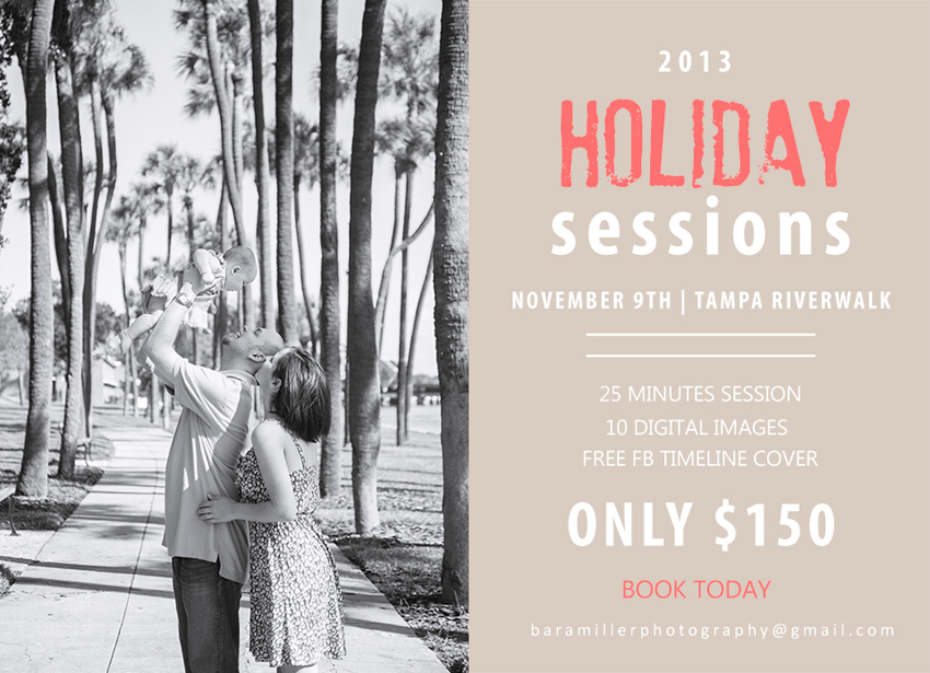tampa riverwalk holiday mini sessions