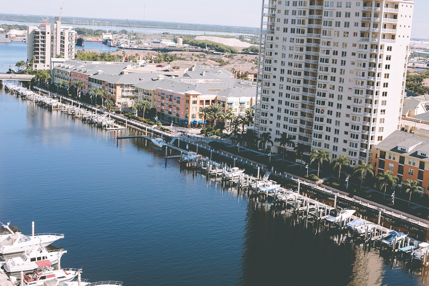 view from the Tampa Marriott Waterside Hotel