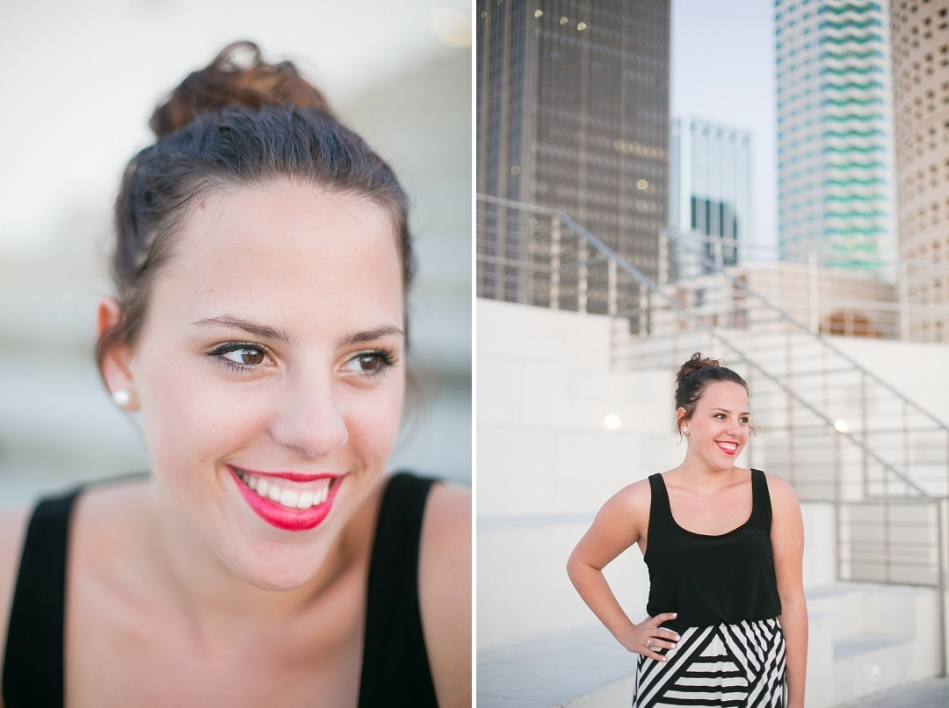 downtown tampa senior session in Curtis Hixon Park