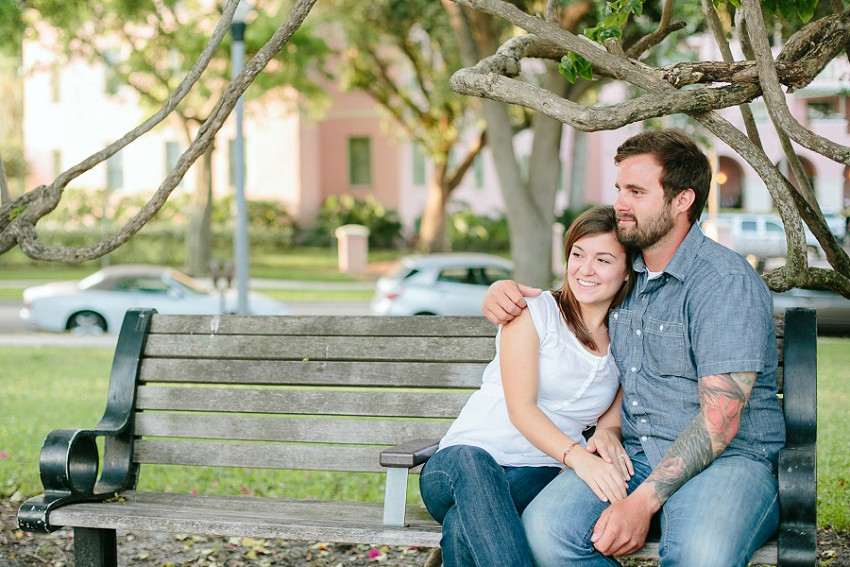 downtown st. pete engagement in north straub park