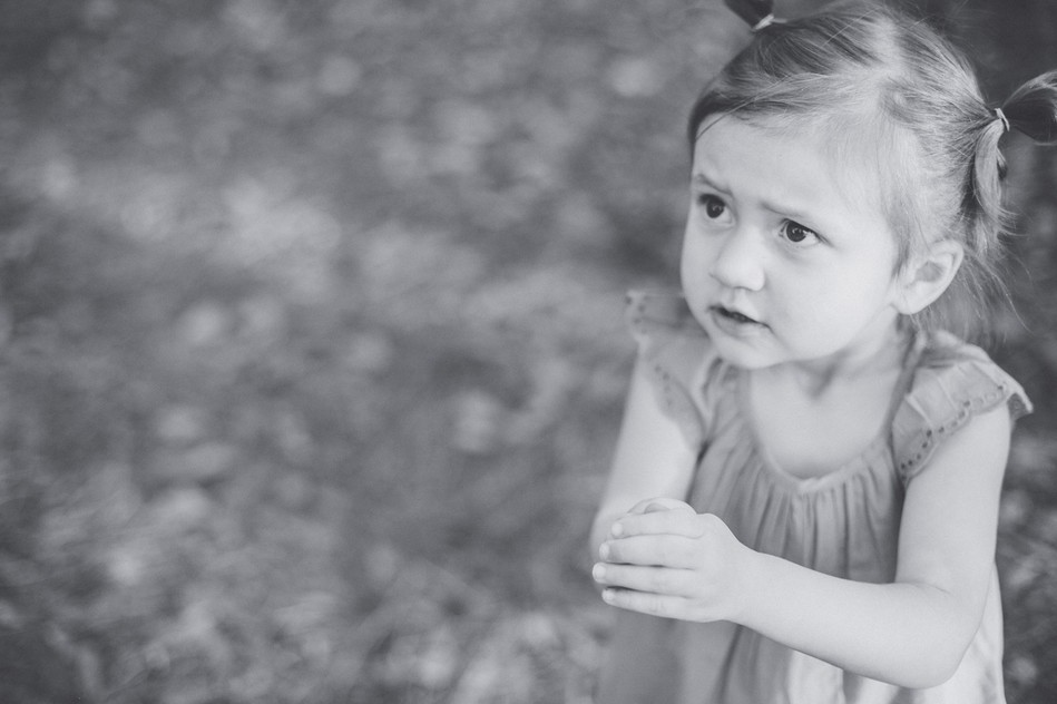 Little Girl in black and white   Family Session by Bára Miller Photography