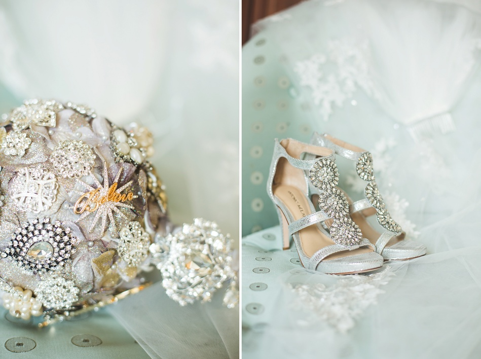 Downtown Tampa NYE Wedding - brooche bouquet