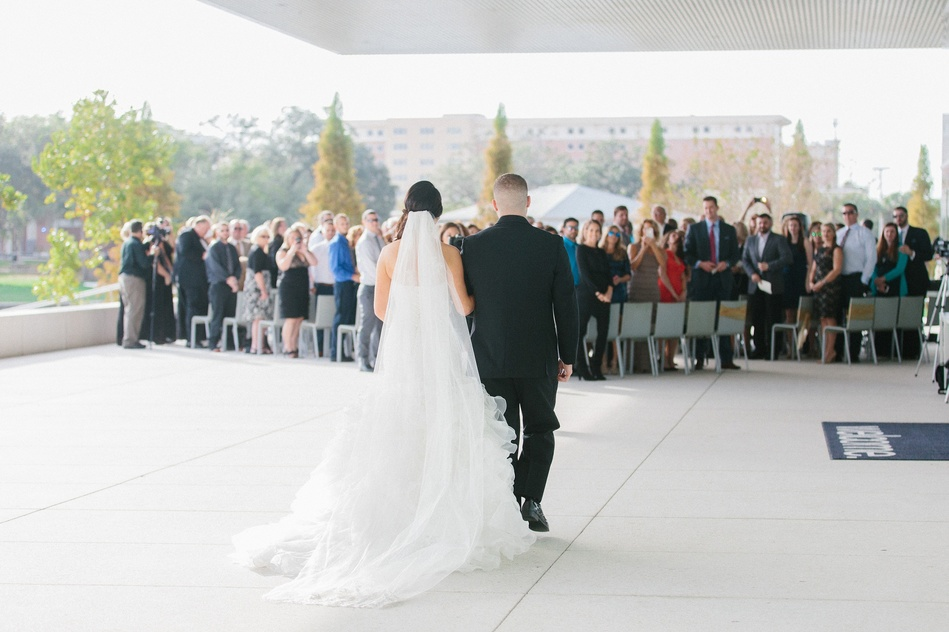 Outside Ceremony at Tampa Museum of Art Wedding by Bára Miller Photography