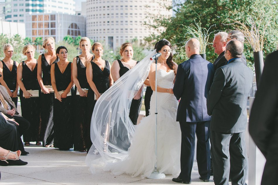 wedding ceremony at Tampa Museum of Art