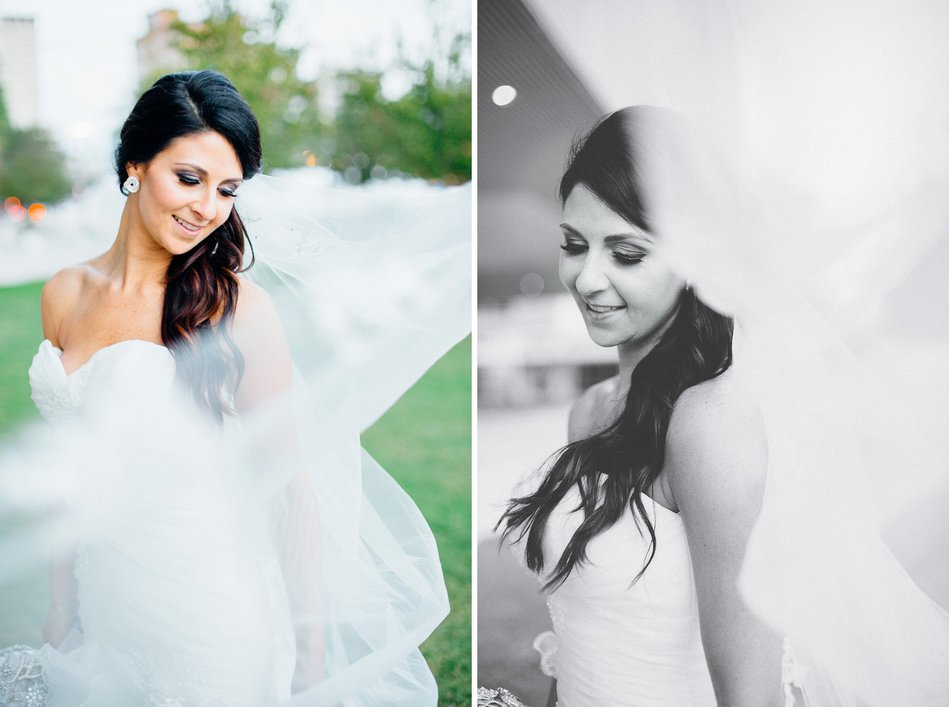 bridal portrait at Tampa Museum of Art Wedding by Bara Miller Photography