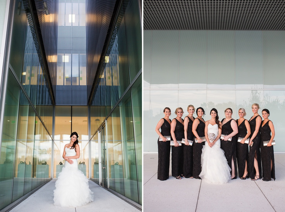bride and her bridesmaids at Tampa Museum of Art Wedding by Bara Miller Photography