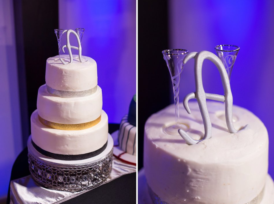 wedding cake at Tampa Firefighters Museum Wedding Reception