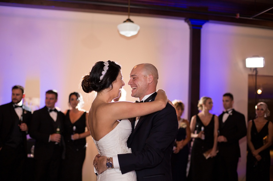 First Dance at Tampa Firefighters Museum Wedding Reception by Bara Miller Photography